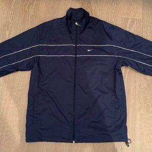Nike Windbreaker Jacket Navy + White accent Sz XL